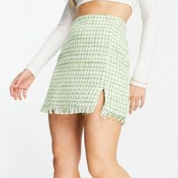 Stradivarius tweed mini skirt in green - part of a set   ASOS (Global)
