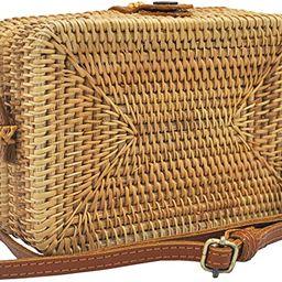 HAAN Women Handwoven Wicker Rattan Crossbody Rectangle Bag Boho Purse Wallet – US Small, Color ... | Amazon (US)