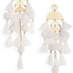 Long Tassel Earrings Statement Fringe Drop Bohemian Earrings Big Dangle for Women Fashion | Amazon (US)