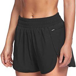 LaLaLa Womens Workout Shorts with Zip Pocket Quick-Dry Athletic Shorts Sports Elastic Waist Runni...   Amazon (US)