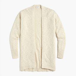 Slub cotton-blend open cardigan sweater   J.Crew Factory
