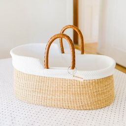Design Dua Bilia Bassinet with Organic Insert – Natural   The Tot