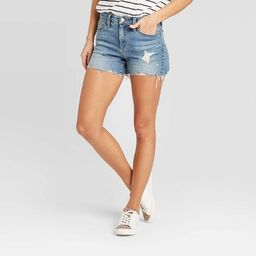 Women's High-Rise Distressed Jean Shorts - Universal Thread™ Medium Wash   Target