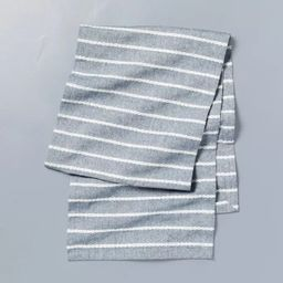 Dobby Rib Knit Table Runner Faded Blue/White - Hearth & Hand™ with Magnolia   Target