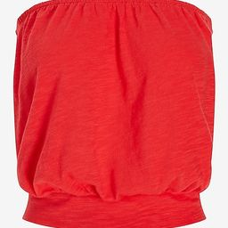 Banded Bottom Bubble Tube Top   Express