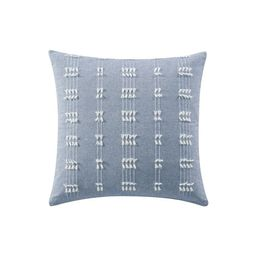 "Mainstays Solid Textured Tasseled Stripe Decorative Throw Pillow, 18"" x 18"", Chambray, Single | Walmart (US)"