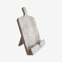 BHAVATU Cutting Board Style Wood Recipe Cookbook iPad Tablet Stand Holder Stand with Kickstand, B... | Amazon (US)