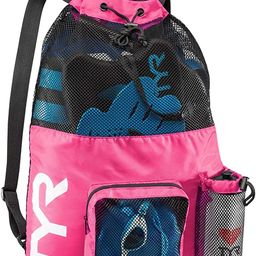 TYR Big Mesh Mummy Backpack For Wet Swimming, Gym, and Workout Gear , Pink   Amazon (US)