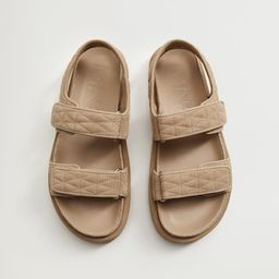 Quilted strap sandals | MANGO (US)