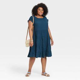 Women's Short Sleeve Babydoll Tiered Dress - Knox Rose™   Target