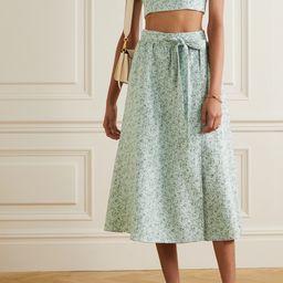 Clyde floral-print linen top and skirt set   Net-a-Porter (US)