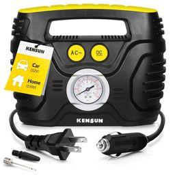 Kensun Portable Air Pump 12V Air Compressor Tire Inflator for Home and Car AC/DC   Walmart (US)
