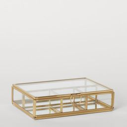 Clear Glass Jewelry Box   H&M (US)