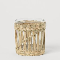 Seagrass Candle Lantern   H&M (US)