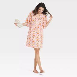 Women's Puff Elbow Sleeve Babydoll Dress - Universal Thread™   Target