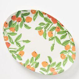 Vera for Anthropologie Poppies Bamboo Melamine Serving Platter | Anthropologie (US)