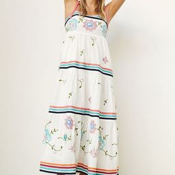 Tiered Embroidered Midi Dress | Anthropologie (US)