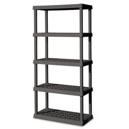 Sterilite 5 Shelf Unit Flat Gray, Plastic   Walmart (US)