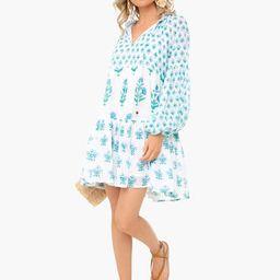 Provence Blue Balloon Sleeve Dress   Tuckernuck (US)