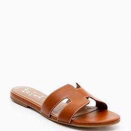 Cognac Leather Alibi Sandals   Tuckernuck (US)