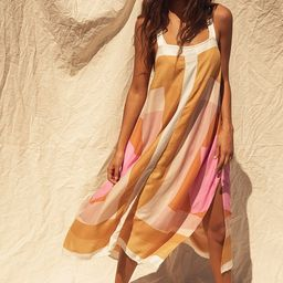 Miranda White Multi Geometric Print Midi Dress | Lulus (US)