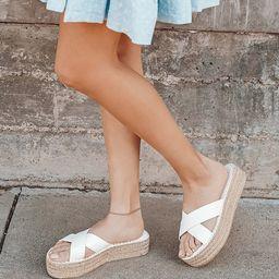 Kahli White Flatform Espadrille Sandals   Lulus (US)