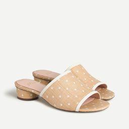Raffia slides with rounded heel | J.Crew US