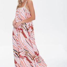 Crinkled Striped Crochet-Trim Dress | Forever 21 (US)