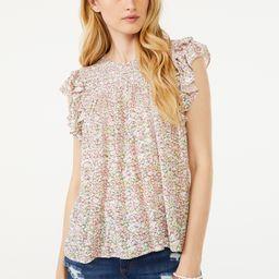 Scoop Women's Flutter Sleeve Double Ruffle Top   Walmart (US)
