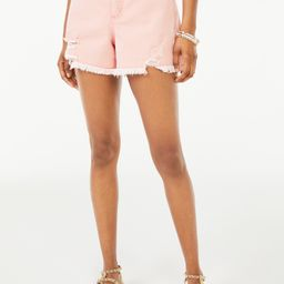 Scoop Women's Retro Boy Destroyed Hem Shorts   Walmart (US)