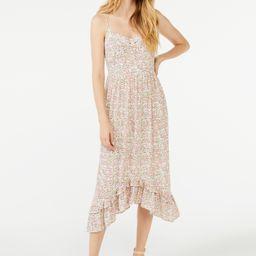 Scoop Women's Midi Sundress with Ruffle Hem   Walmart (US)