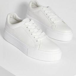 Basic Platform Lace Up Sneakers | Boohoo.com (US & CA)