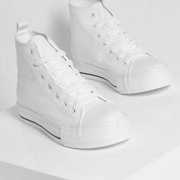 High Top Canvas Sneakers | Boohoo.com (US & CA)