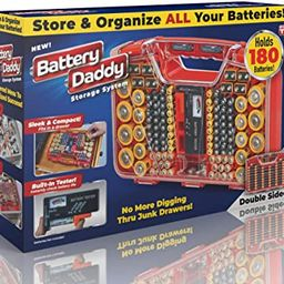 Ontel Battery Daddy 180 Battery Organizer and Storage Case with Tester, 1 Count   Amazon (US)