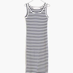 Ribbed Tank Scoop Midi Dress in Stripe | Madewell