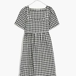 Linen-Blend Allie Mini Dress in Gingham Check | Madewell