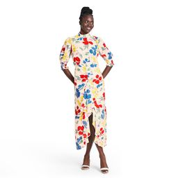 Floral Mock Neck Cascade Ruffle Dress - RIXO for Target Cream 16, Ivory | Target