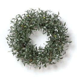 Lush Olive Leaf Wreath | Frontgate | Frontgate