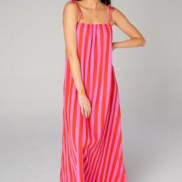 Barton Tie Shoulder Maxi Dress - Hot Tamale | BuddyLove