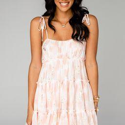 Riley Tiered Mini Dress - Honeysuckle | BuddyLove