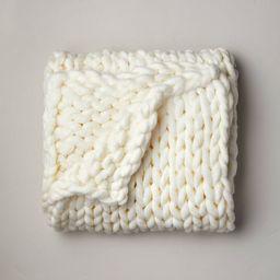 "50""x70"" Oversized Chunky Hand Knit Decorative Bed Throw - Casaluna™ | Target"