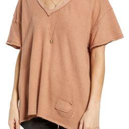 Women's Distressed V-Neck T-Shirt | Nordstrom