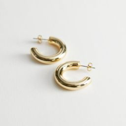 Chunky Open Hoop Earrings - Gold | & Other Stories