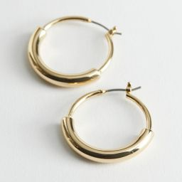 Chunky Split Hoop Earrings - Gold | & Other Stories