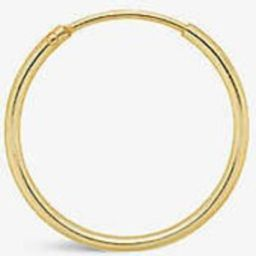 Single L 14ct yellow gold-plated sterling silver hoop earring | Selfridges