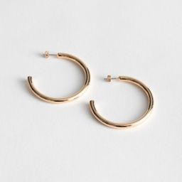 Thick Glossy Hoop Earrings - Gold | & Other Stories