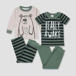 Gerber Toddler Boys' 4pc Bear Pajama Set - Brown/Gray   Target