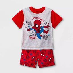 Toddler Boys' Marvel Spider-Man Pajama Set - Red   Target