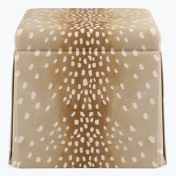 Skirted Storage Ottoman | Fawn | The Inside