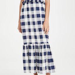 Morgan Plaid Short Sleeve Smocked Dress | Shopbop